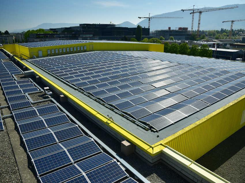 centrale solaire des Laiteries Réunies de Genève